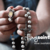 Tiny Saints, praying hands with rosary