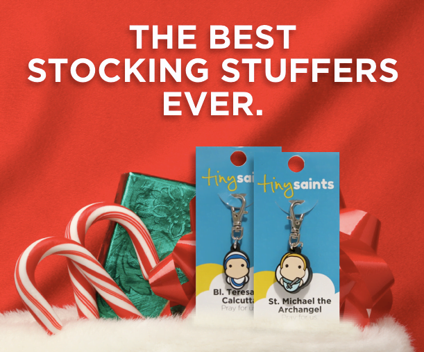 Tiny Saints Stocking Stuffer banner